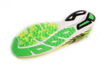 Desgaste algo mas de lo habitual,pero normal en este tipo de zapatillas de competición.