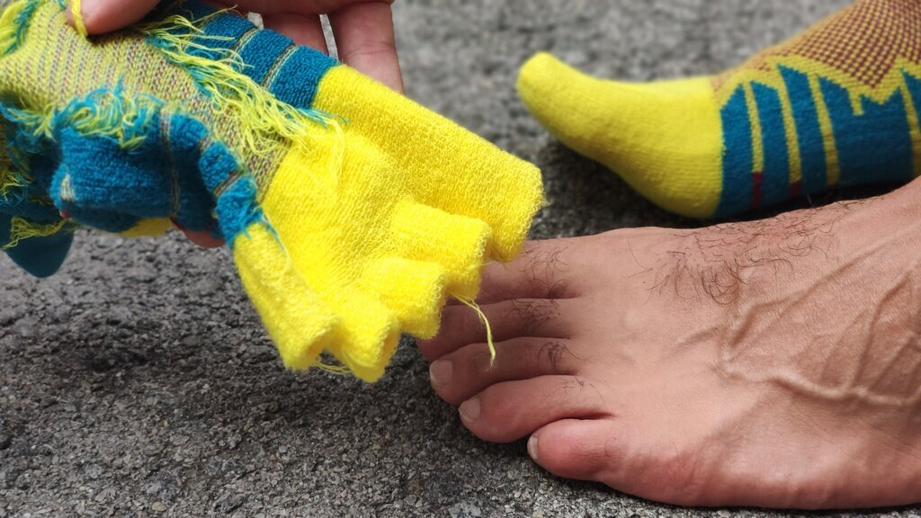 Correcto calcetín para épocas de primavera